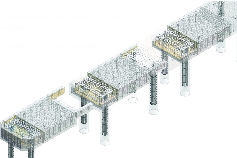 BIM Construction Detail Drawing Piles Marine Engineering | Castria Design