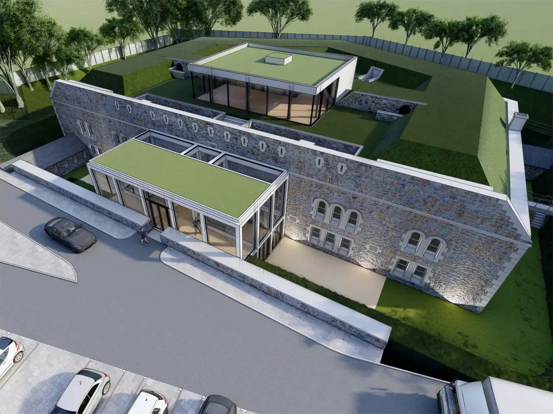 Eggbuckland Keep Fort Plymouth Regeneration | Site 3D View | Castria Design