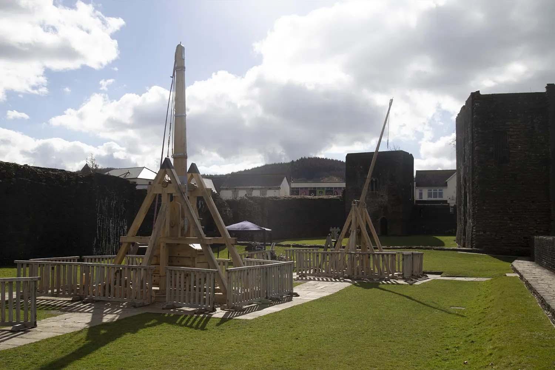Caerphilly Castle Siege Engines Engineering | Cadw | Castria Design