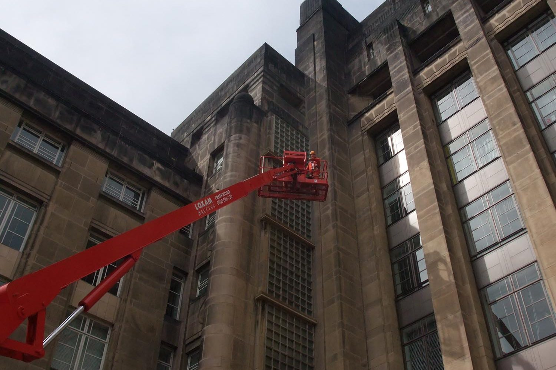 Historical building condition survey with mobile elevating work platforms | Castria Design
