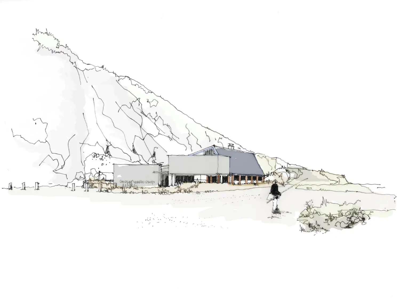 Cornish Sea Salt Factory Cornwall   Concept Sketch   Castria Design