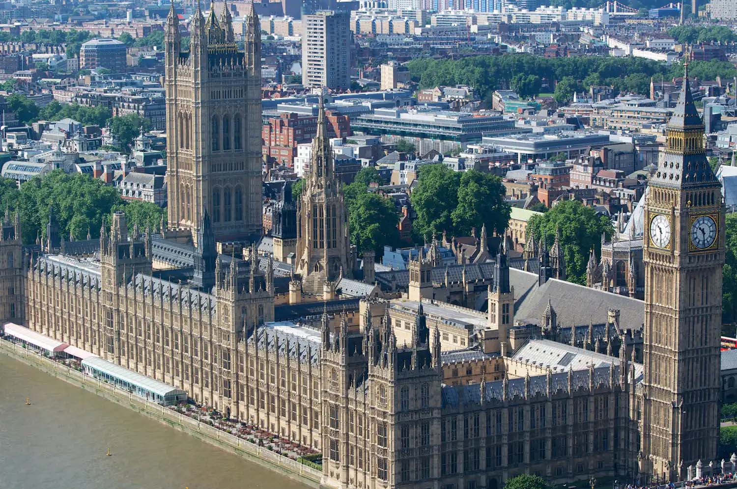 The Palace of Westminster UK Parliament | Drone Ariel View | Castria Design